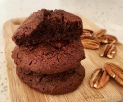 Weiche Schoko-Pekan-Cookies
