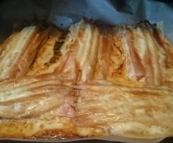 Spargel - Schnitzel mit Sauce Hollandaise und Kartoffeln