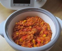 Reisfleisch Ruck-Zuck / Serbisches Reisfleisch / Reispfanne