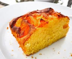 Kleiner Rührkuchen mit Pfirsich für die Heissluftfritteuse