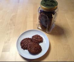 Schoko-Cookies mit Mandeln