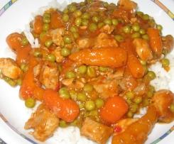 Gemüsegulasch mit Reis