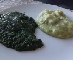 Rahmspinat mit Kartoffelpüree