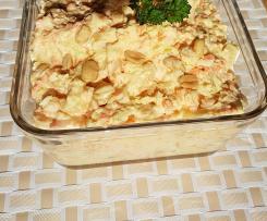Möhren Weisskohl Salat mit Erdnüssen