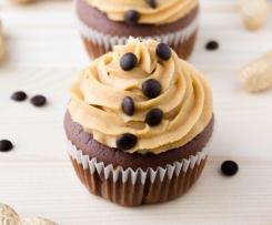 Erdnussbutter-Schoko-Cupcakes