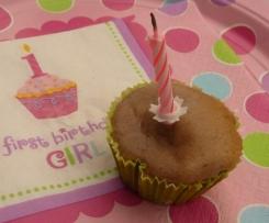 Erdbeer-Muffins für Babys 1. Geburtstag