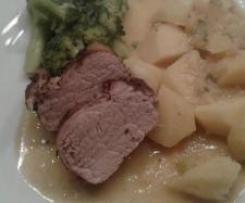 Schweinefilet mit Brokkoli und Kartoffeln