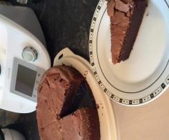 Schokoladenkuchen mit weichem Kern