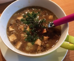 "Bunte Linsensuppe  (vegetarisch, vegan oder ""normal"")"