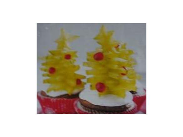 Muffin Tannenbaum.Sternenfrucht Tannenbaum Muffins