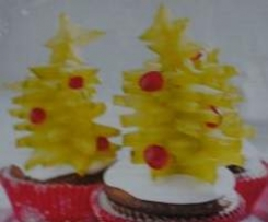 Sternenfrucht-Tannenbaum Muffins