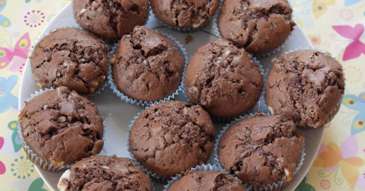 muffins mit kinderschokolade von mafrajo ein thermomix rezept aus der kategorie backen s. Black Bedroom Furniture Sets. Home Design Ideas