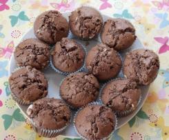 Muffins mit Kinderschokolade
