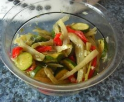 Gemüse, mediterran auch als Salat