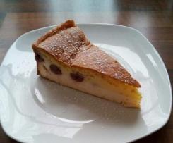 Käse-Kirsch-Kuchen mit Eierguß, ohne Boden