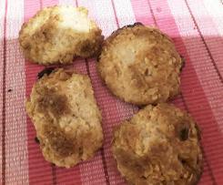Kokos-Hafer-Kekse - Fructosefrei, fructosearm