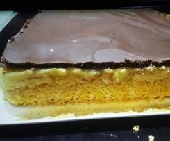 Schoko-Vanillepudding-Kuchen wie vom Bäcker