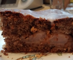 Gedeckter Birnenkuchen Birnen-Kuchen