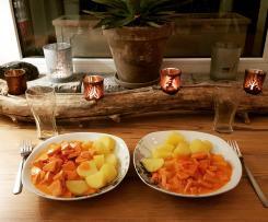 Würstchengulasch mit Kartoffeln