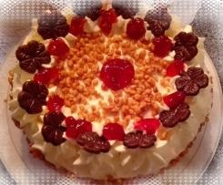 Preißelbeer-Sahne Torte.