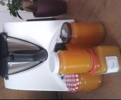 Apfel-Nektarinen-Bananen-Amaretto-Marmelde