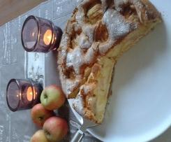 Apfelkuchen, RUCK-ZUCK, mit versunkenen Äpfeln und Zuckerkruste