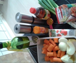 Rote Linsen mit Curry und Apfel