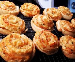 Käse-Blätterteig-Schnecken