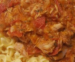 Thunfisch-Tomaten-Soße