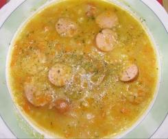 Kartoffelsuppe mit Wurst oder Speck (orig.)