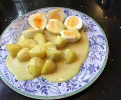 Eier in Senfsoße / Senfeier