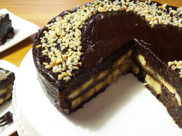 Schoko Banane Rohkost Torte Vegan Von Ivellia Ein Thermomix