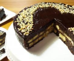 Schoko-Banane Rohkost Torte Vegan