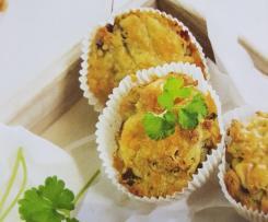 Schinkenmuffins mit Kräutern und Käse