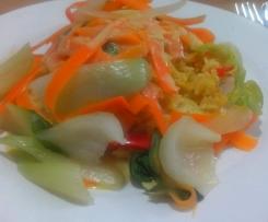 Thai-Curry mit Pak Choi und Banane