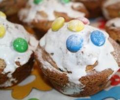 Joghurt-Schokostreusel-Muffins mit Smarties