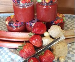 Erdbeer - Rhabarber - Ingwer Marmelade