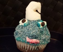 Schlumpf Cupcake