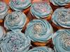 Cupcakes mit weißer oder brauner Schokolade (Muffins )