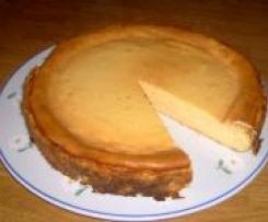 Variation von Quarkkuchen ohne Teigboden