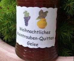 Weihnachtliches Weintrauben-Quittengelee