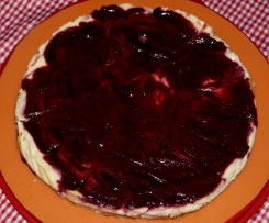 Cheesecake mit Himbeerpüree