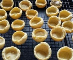 Mürbteig - salzig  für Tartelettes