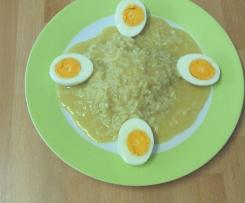 Reis mit Eier in Senfsoße / Senfsauce