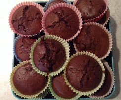 Schokoladige Mini-Muffins