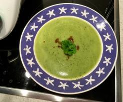 Zucchini Creme Suppe, Low Carb, Low Fett, für SWK geeignet
