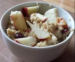 Apfel Zimt Hirse Creme (Vegan)