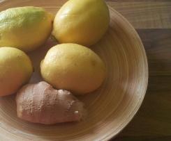 Zitronen-Ingwer Icetea / Limonade (Konzentrat)