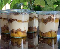 Pfirsich-Cappuccino-Trifle