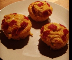 Pizza Salami Muffins